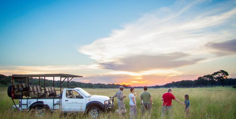 Game Drive & Sundowners on Dete Vlei on Private Concession