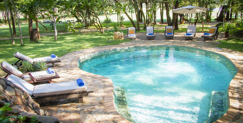 Swimming pool at Ivory Safari Lodge