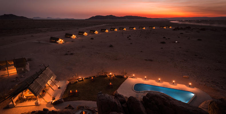 Desert Quiver Camp at night
