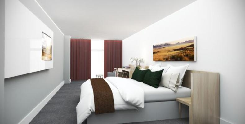 Artist impression of bedroom