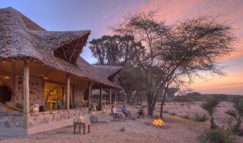 Enjoy an incredibly beautiful setting at our new Family Banda at Saruni Rhino with some end of day sundownwers