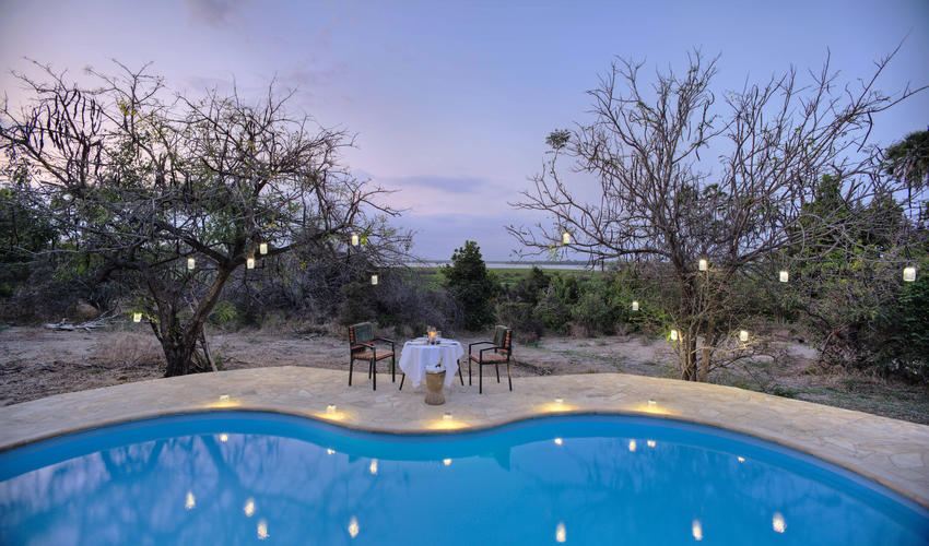 Roho ya Selous - private dinner by the pool