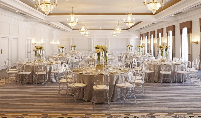 Setup beautifully for a wedding
