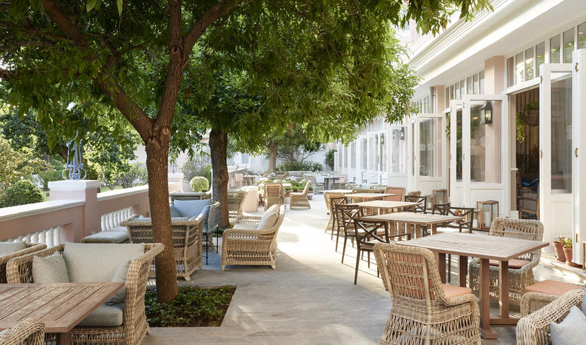 Refurbished lounge terrace