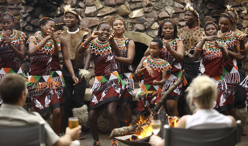 Boma Dinner with Zulu Dancers