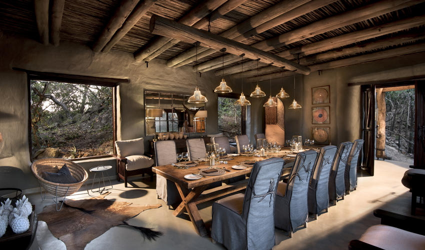 Guest dining at Phinda Rock Lodge