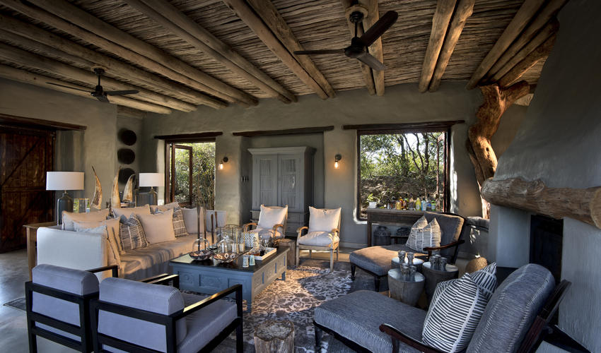 Sitting area at Phinda Rock Lodge