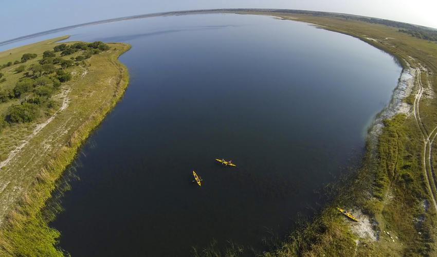 Aerial of Lake Sibaya