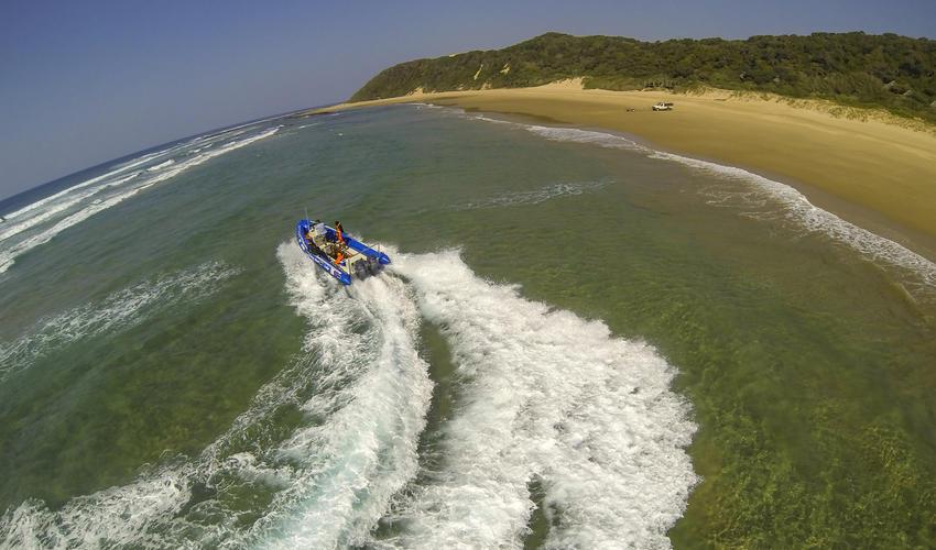 Boat Launching at Thonga Beach Lodge