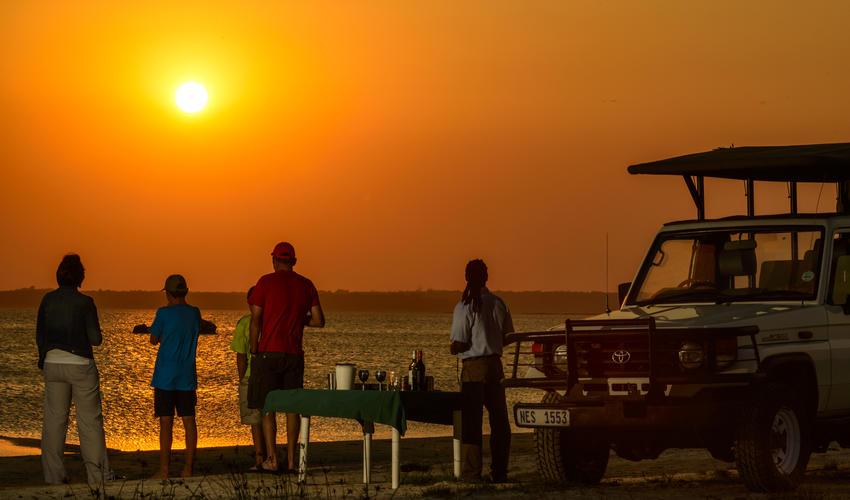 Sundowners overlooking Lake Sibaya