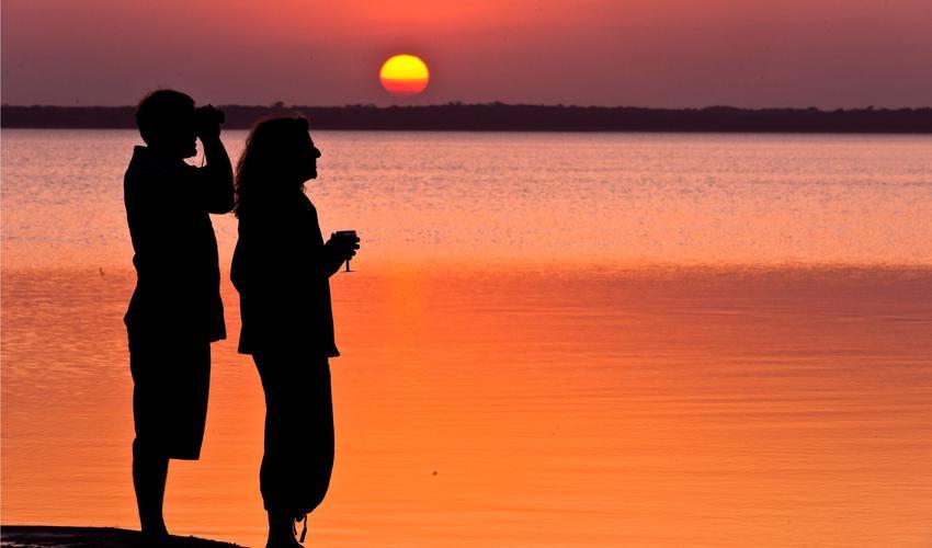 Sundowners at Lake Sibaya