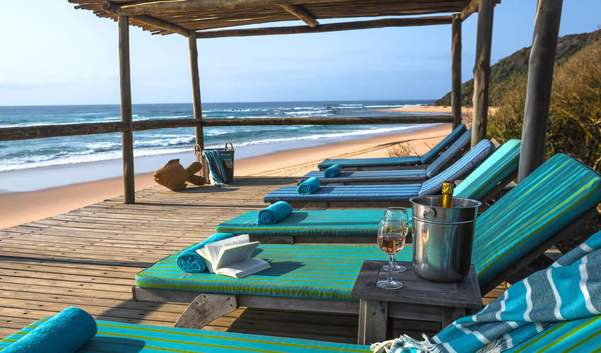 Spend a lazy afternoon in peace on the beach deck