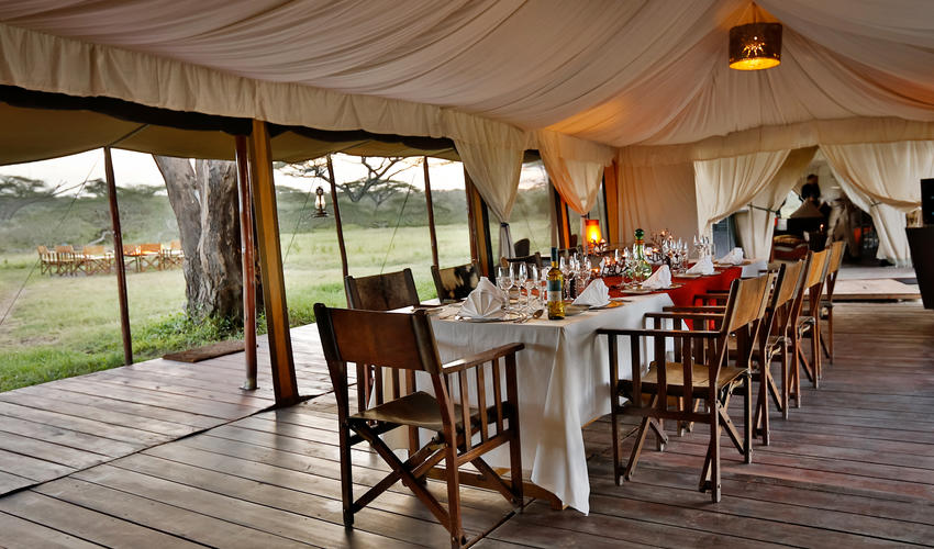 Communal style dining where guests can catch up with fellow travellers