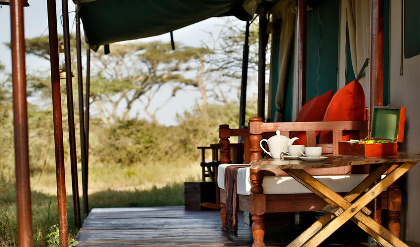 Where early morning tea and coffee is served or you can enjoy gin and tonics at sundowners