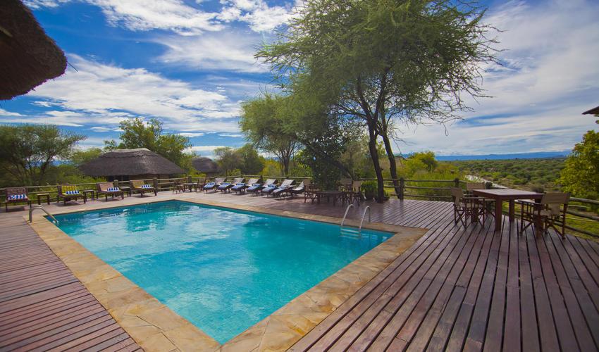 Swimming Pool Deck at Mbali Mbali Tarangire River Camp