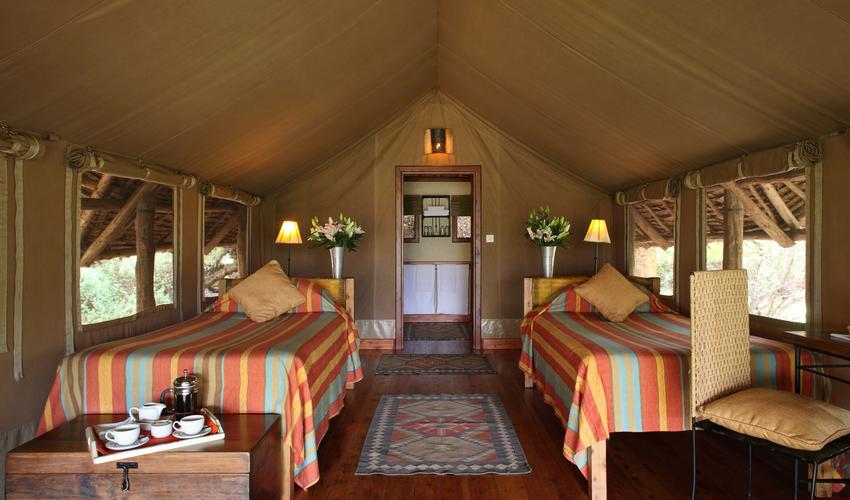 A twin tented suite