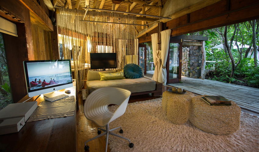 Presidential Villas are fully equipped with wifi, iPads and widescreen TVs