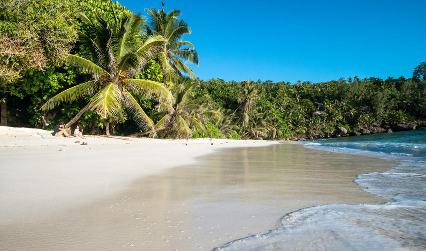 Secluded sands of Honeymoon Beach