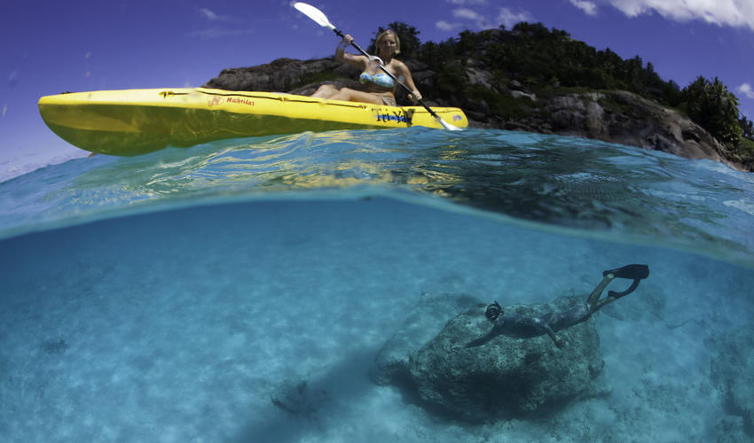 Sea Kayaks offer a great way to explore around North Island