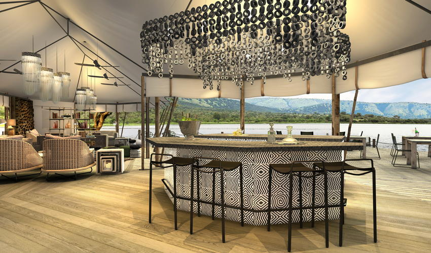 Artist's Impression | main area bar overlooking Lake Rwanyakazinga
