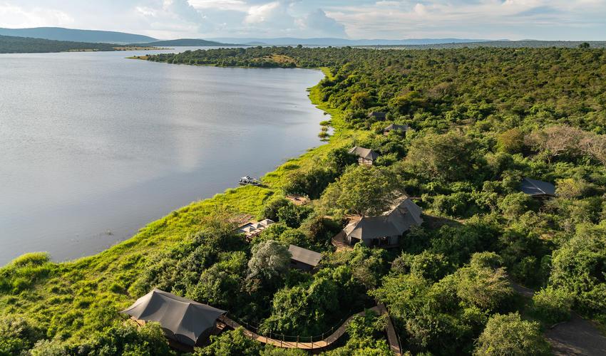 Lake Rwanyakazinga is the second-largest in Akagera National Park