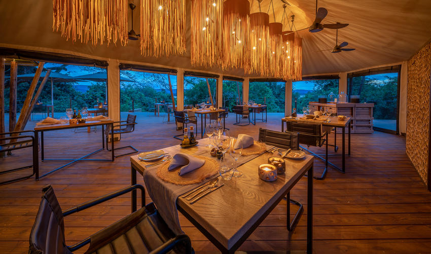 Indoor and outdoor dining is possible, depending on the weather