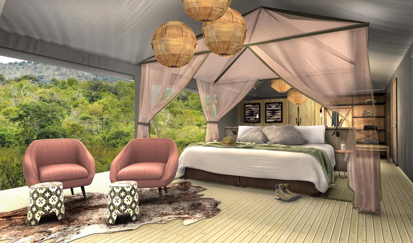 Artist's Impression | guest tent interior