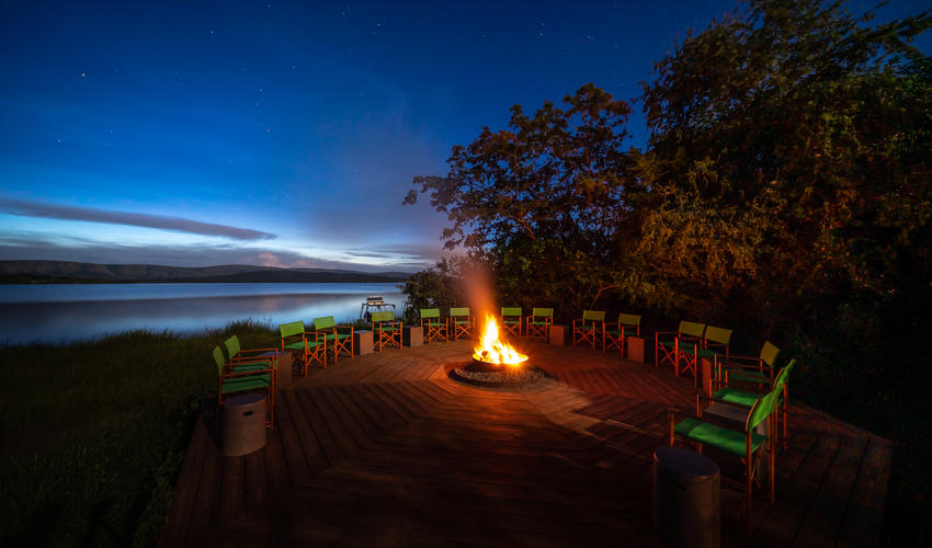 The Magashi campfire speaks volumes about its setting