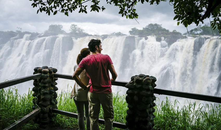 Victoria Falls within 10 minutes walking distance from hotel
