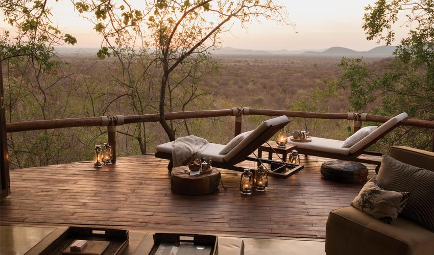 Each suite has a viewing deck to make sure no game viewing opportunities are missed