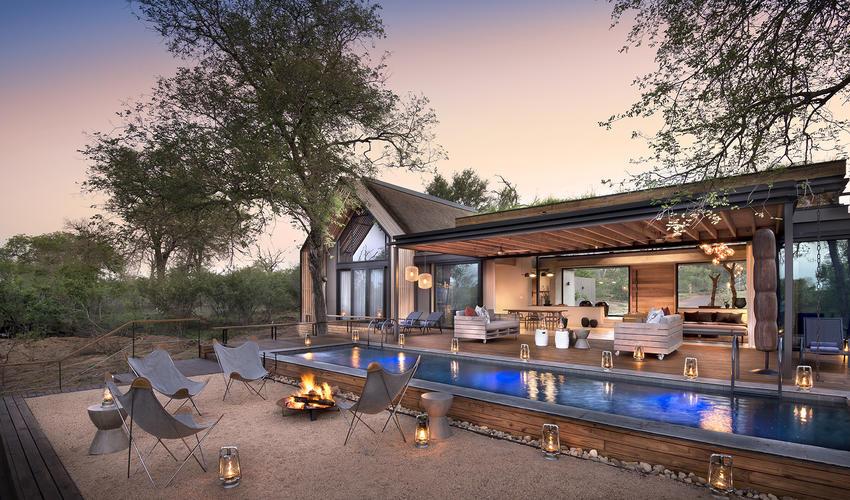 Fish Eagle Villa Pool & Fire Deck