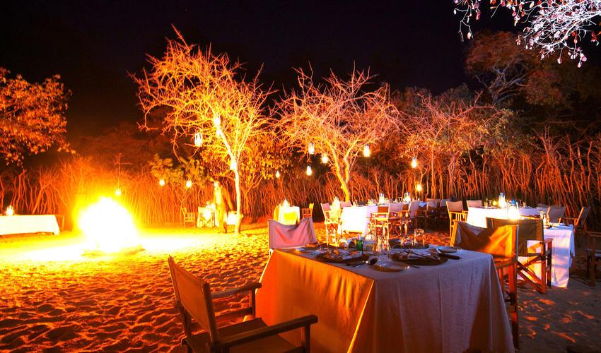 Boma dinner under the stars