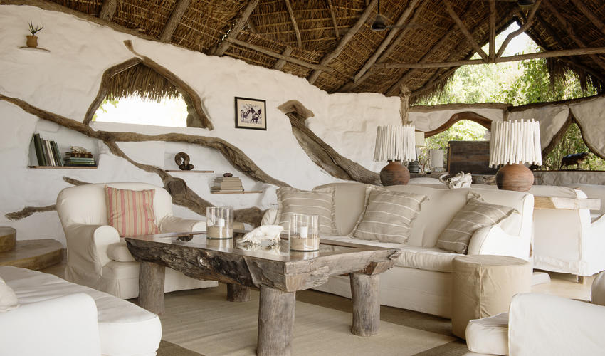 Perched on the banks of the Rufiji River, the main lounge is the perfect place to enjoy watching lazy hippos and crocs with a good book to keep you company.