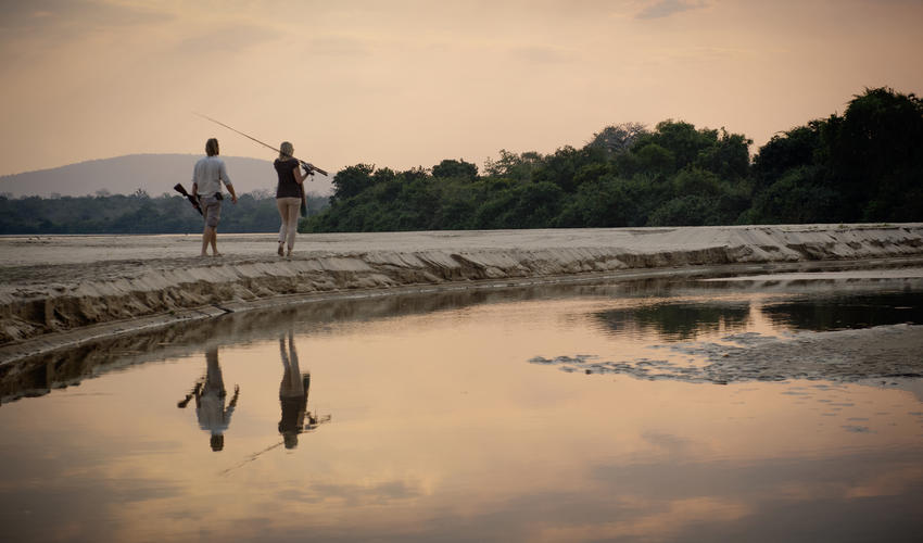 There are great fishing opportunities within the Selous.