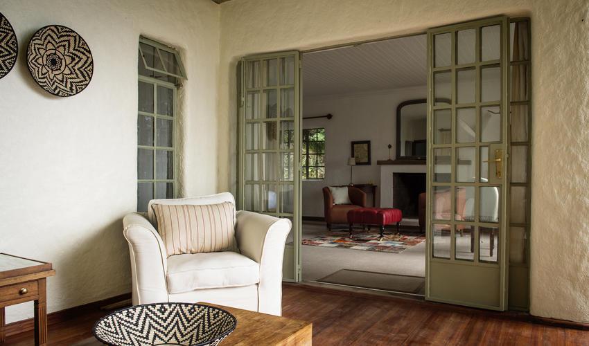 Cottage verandah seating area