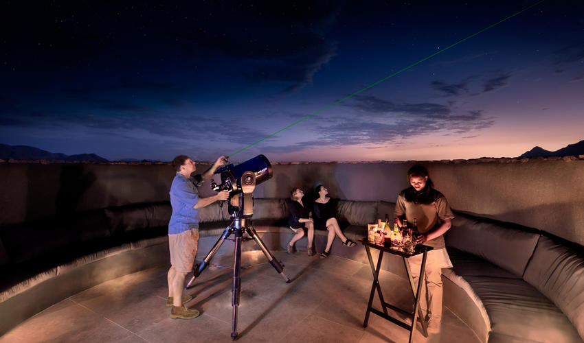 Stargazing astronomer telescope