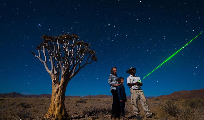 Star gazing with safari guide