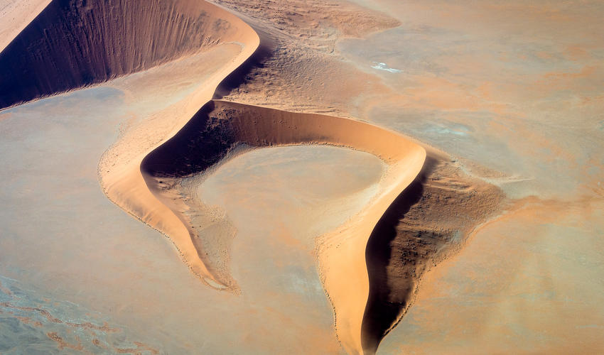 Sossusvlei dune shapes from the air