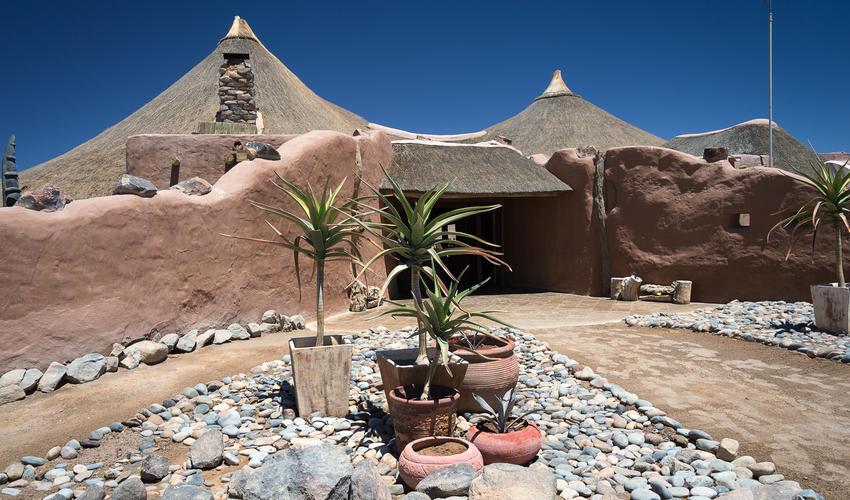 Kulala Desert Lodge entrance