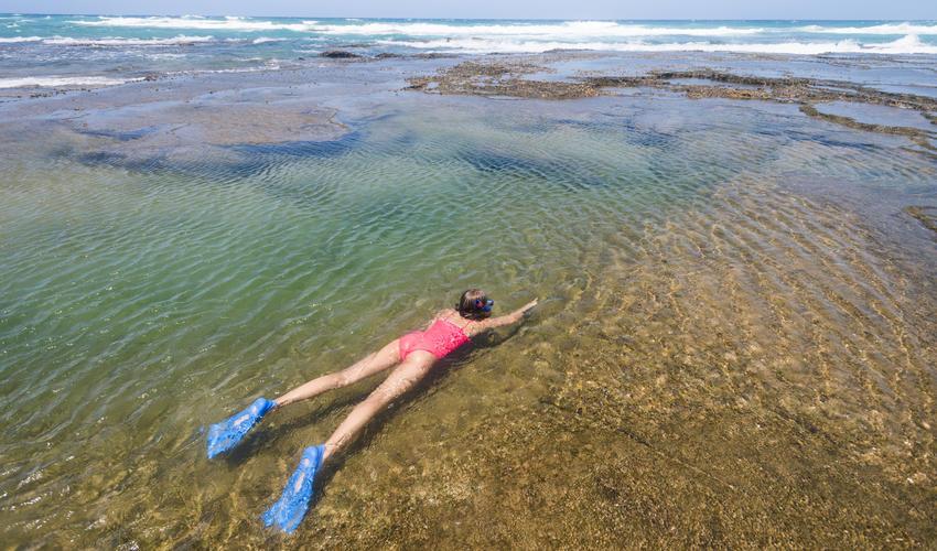 Safe snorkeling at Lala Nek