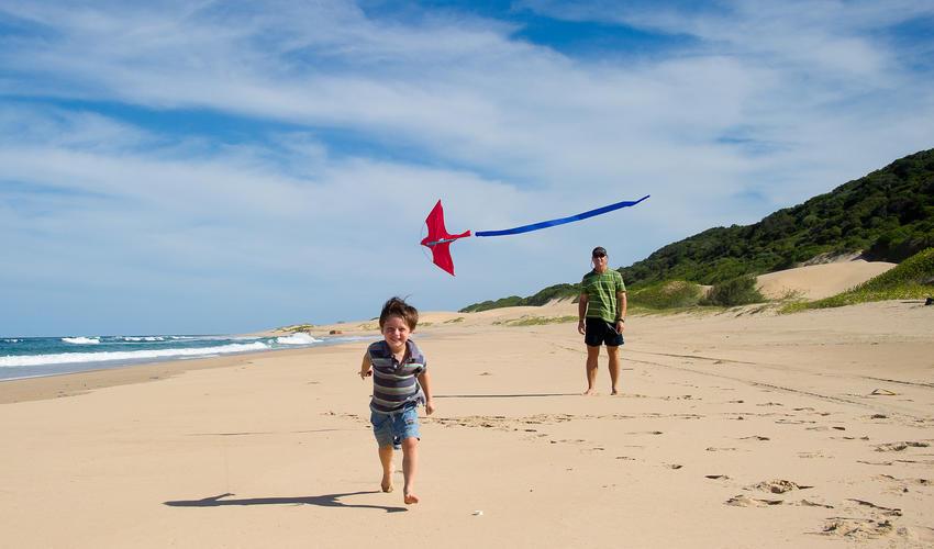 Kite flying at Rocktail