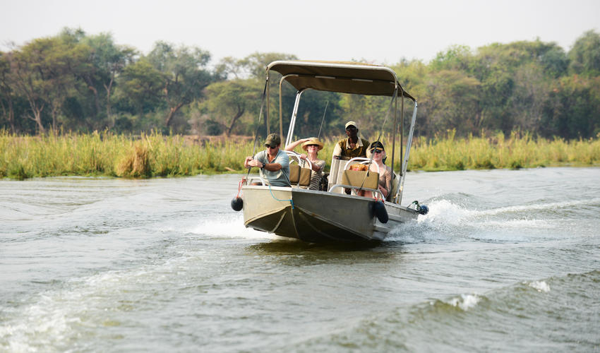 Arrive in camp via Boat Transfer after a 30 minute flight from Lusaka