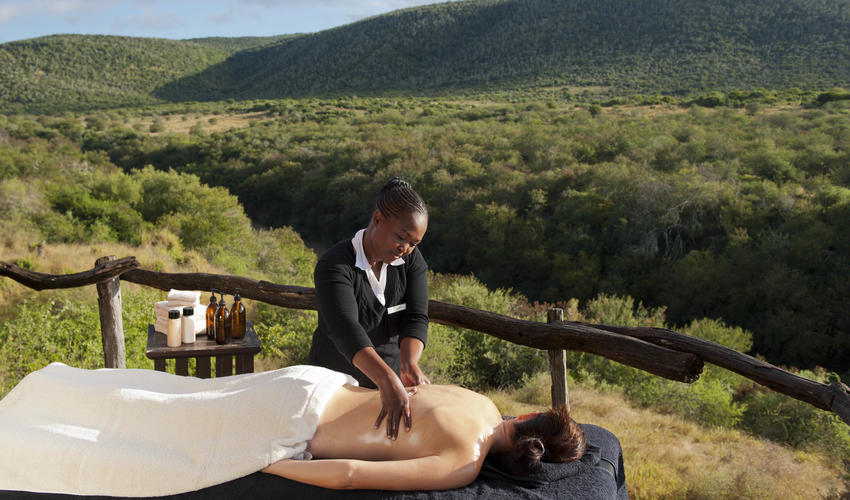 Relax with an in-room massage or on your private deck