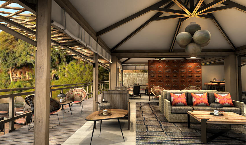 Render of the new proposed lounge area