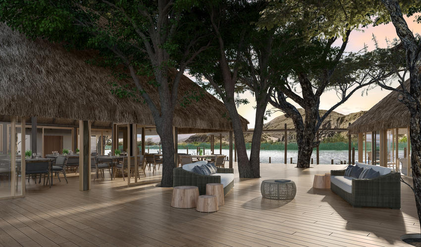 Serra Cafema is undergoing a rebuild, to be completed by 1 September 2018 | Artist impression of the main area deck