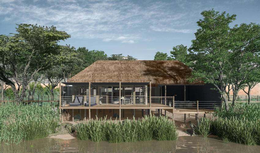 Serra Cafema is undergoing a rebuild, to be completed by 1 September 2018 | Artist impression of guest tent exterior