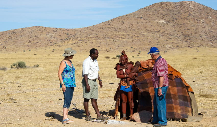 Guests are invited to visit a local Himba settlement during their stay