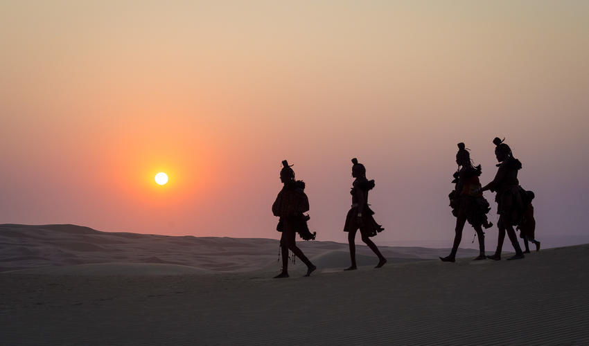 The Himba are nomadic hunter-gatherers indigenous to the Kunene Region