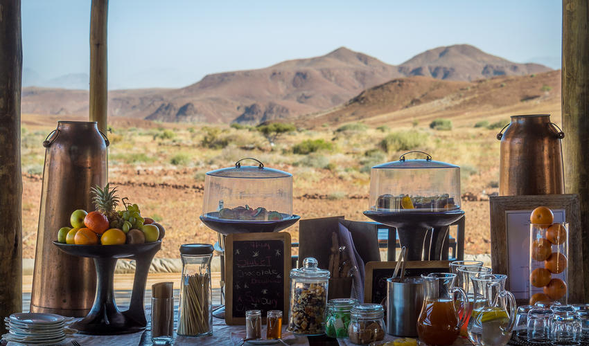 Tea time at Damaraland Camp