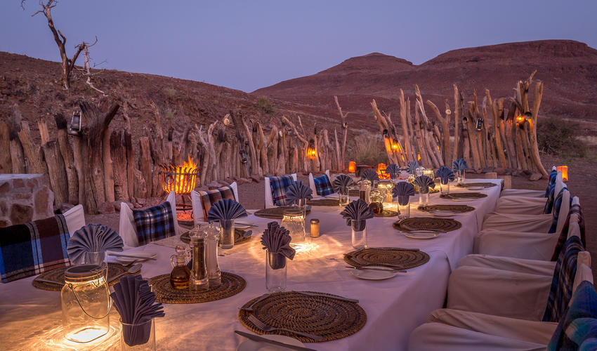 Damaraland's traditional boma night is tremendously popular with guests